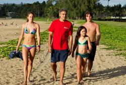 The cast of The Descendants suffering through another day in paradise.