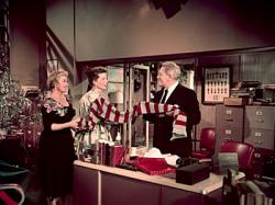 Katharine Hepburn and Spencer Tracy in Desk Set.
