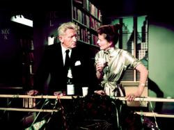 Spencer Tracy and Katharine Hepburn in their penultimate movie together, Desk Set.
