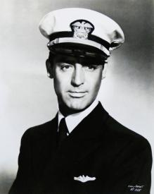 Cary Grant in uniform for Destination Tokyo.