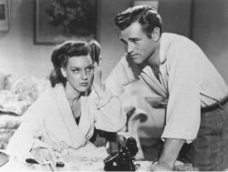 Ann Savage and Tom Neal in The Detour