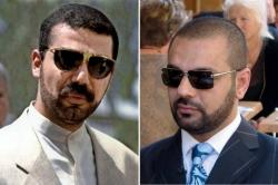 On the left the real Uday Hussein and on the right the real Latif Yahia.