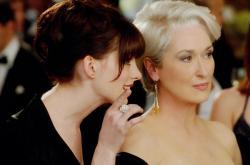 Anne Hathaway and Meryl Streep in The Devil Wears Prada.