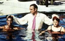 James Bond takes a swim with Bambi and Thumper.