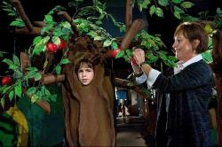 Greg playing a tree in a school production of The Wizard of Oz.
