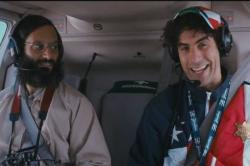 Jason Mantzoukas and Sacha Baron Cohen in The Dictator.