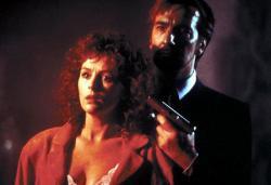Bonnie Bedelia and Alan Rickman in Die Hard.