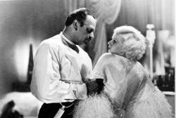 Wallace Beery and Jean Harlow in Dinner at Eight.