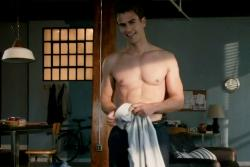 Theo James shows off his talent in Divergent.