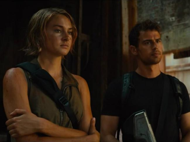 Shailene Woodley and Theo James in Allegiant.