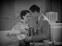 Norma Shearer and Chester Morris in The Divorcee.