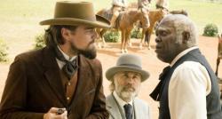 Leonardo DiCaprio, Christoph Waltz and Samuel L jackson in Django Unchained