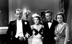 Paul Lukas, Ruth Chatterton, Walter Huston and Mary Astor in Dodsworth.