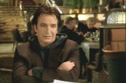 Alan Rickman as the sarcastic voice of God in Dogma.