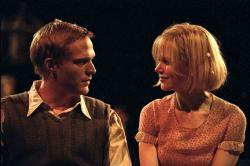 Paul Bettany and Nicole Kidman in Dogville.