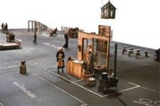 The Dogville set.