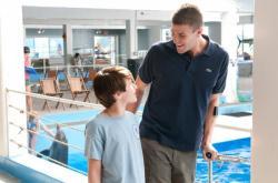Nathan Gamble and Austin Stowell in Dolphin Tale