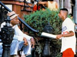 Ossie Davis and Spike Lee in Do the Right Thing.