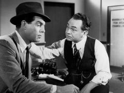 Fred MacMurray and Edward G. Robinson in Double Indemnity.