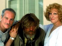 Richard Dreyfuss, Nick Nolte, and Bette Midler in Down and Out in Beverly Hills.