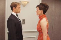 David Hyde Pierce and Sarah Paulson in Down with Love.