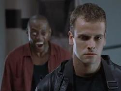 Omar Epps and Jonny Lee Miller in Dracula 2000.
