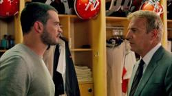 Tom Welling and Kevin Costner in Draft Day