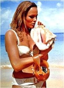 Ursula Andress and her shells.