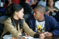Zoe Saldana and Nick Cannon in Drumline.