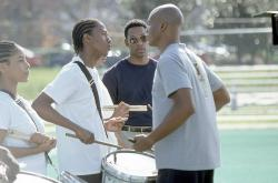 Nick Cannon, Leonard Roberts and Orlando Jones in Drumline.