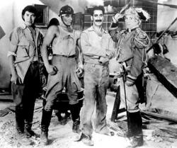 Chico, Zeppo, Groucho and Harpo Marx in Duck Soup.