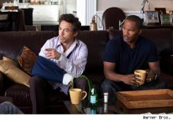 Robert Downey Jr. and a wasted Jamie Foxx in Due Date.