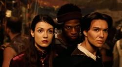 Zoe McLellan, Marlon Wayans, and Justin Whalin in Dungeons & Dragons.