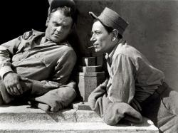James Cagney and George Raft in Each Dawn I Die.