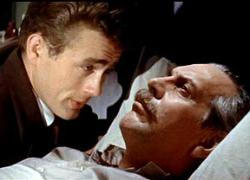 James Dean and Raymond Massey in East of Eden.