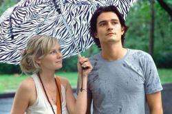 Kristen Dunst and Orlando Bloom in Elizabethtown.