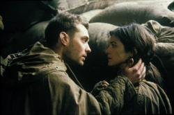 Jude Law and Rachel Weisz in Enemy at the Gates.