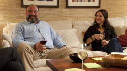 James Gandolfini and Julia Louis-Dreyfus in Enough Said.