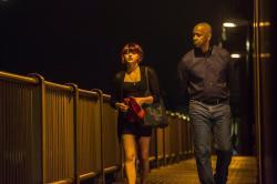 Chloe Grace Moretz and Denzel Washington in The Equalizer.