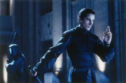 Christian Bale strikes a pose in Equlibrium