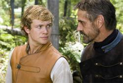Edward Speleers and Jeremy Irons in Eragon