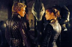 Edward Speleers and Sienna Guillory in Eragon.