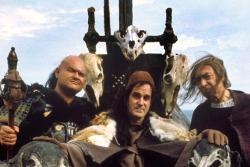 John Cleese as Halfdan the Black in Erik the Viking.