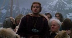 Tim Robbins and Mickey Rooney in Erik the Viking