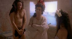 Tim Robbins, Terry Jones, and Imogen Stubbs in Erik the Viking.