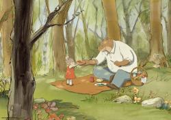 Pauline Brunner voices Celestine and Lambert Wilson voices Ernest in Ernest & Celestine.