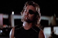 Kurt Russell as Snake Plissken in Escape from New York.