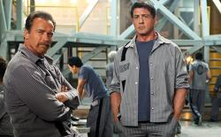 Arnold Schwarzenegger and Sylvester Stallone team up 20 years too late in Escape Plan.