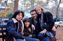 Ezra Miller, Skyler Fortgang, Liev Schreiber, and Helen Hunt in Every Day.