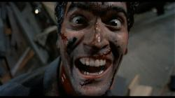 Bruce Campbell in The Evil Dead.